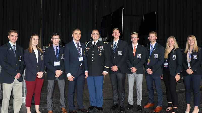 OVER $1MM IN ARMY/ROTC SCHOLARSHIPS AWARDED NINE DECA STUDENTS